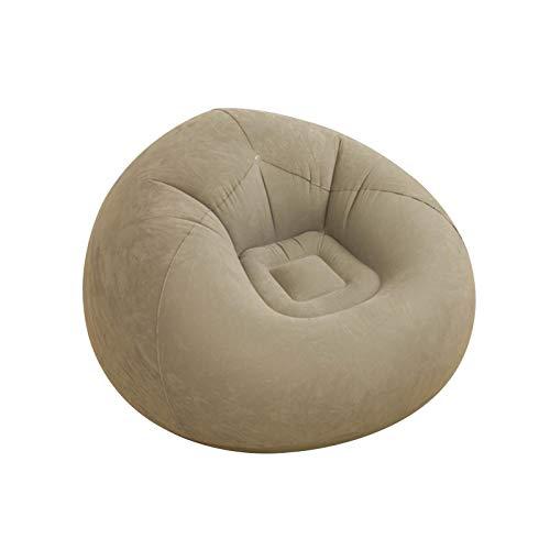 Aufblasbares Loungesofa, Lazy Single Inflatable Chair Beflockbarer Klappstuhl, Outdoor-Arbeitsstuhl für Familienarbeitsgarten Wohnzimmer