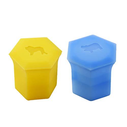 TSBB 3D Animal Ice Cube Molde Silicona Congelador Lion & Hippo Cup Moldes de Bricolaje ecológicos
