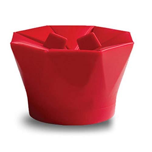 Microondas de Silicona para Hacer Palomitas de maíz Popcorn Popper Homemade Delicious Popcorn Bowl Herramientas para Hornear Kitchen Bakingwares DIY Bucket - Rojo