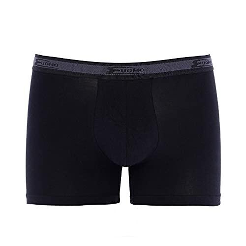 Cotonella Art.2384 Lot de 6 boxers pour homme Blanc/noir Coton bi-élastique (6 boxers Noir – 7/XXL)