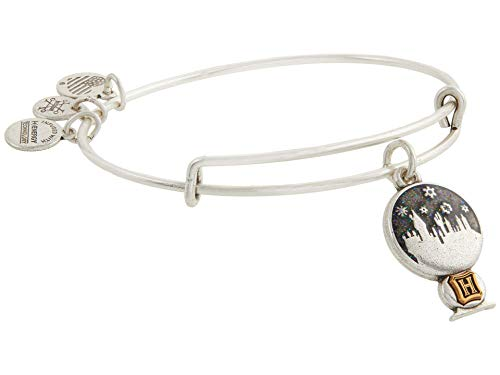 Alex and Ani Harry Potter Hogwarts Snow Globe Bangle Bracelet Two-Tone One Size