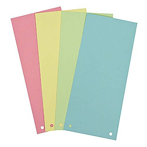 SOE Trennstreifen 01598 Pa=100St 4farbig sort. rosa blau grün gelb