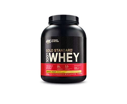 Optimum Nutrition Gold Standard 100% Whey Protein Powder Banana Cream 5 Pound Packaging May Vary