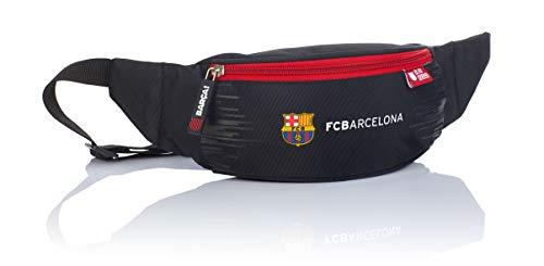 F.C. Barcelona FC-242 - Riñonera Infantil, diseño del Barca, Color Negro, 26 x 10 x 7 cm