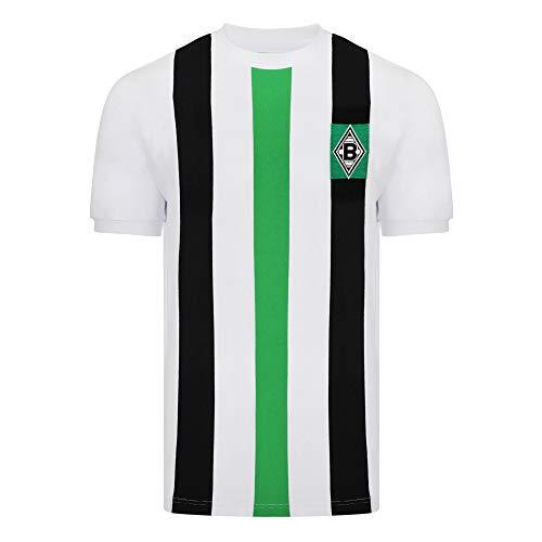 Score Draw Herren Retro - Trikot Borussia Mönchengladbach   Heimtrikot 1973 in Weiß, Größe: S