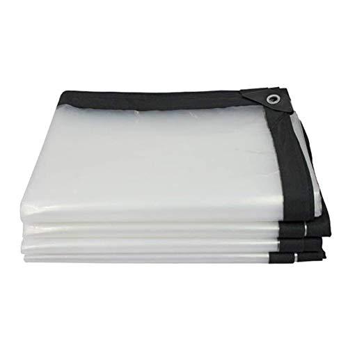 ZXHQ Resistente Al Agua Lona Transparente 4x12m, Lona Transparente Exterior con Ojales, Transparente Impermeable Tarpaulin Durable ProteccióN FríO para Carpa del Camiones