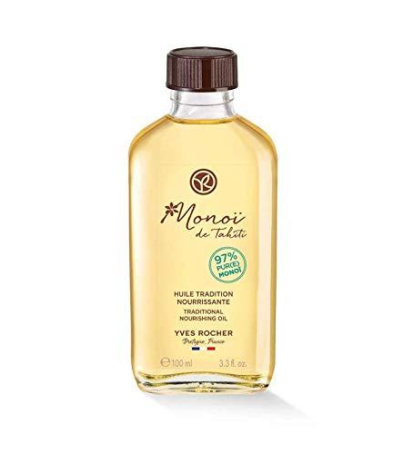 Yves Rocher MONOÏ traditionelles Tiaré-Öl, pflegendes Haaröl & Körperöl, Duft und Pflege für Haut & Haare, 1 x Glas-Flacon 100 ml
