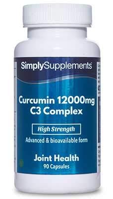 Cúrcuma complex 12000mg - ¡Bote para 3 meses! - Apto para veganos - 90 cápsulas - SimplySupplements