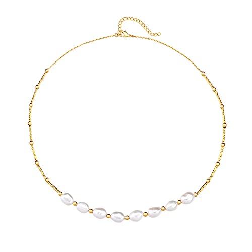 Collar Mujer Collar de Perlas Female Simple Temperament Light Tendencia de Lujo Diseño de Moda Collares de Cadena de clavícula para Mujeres Collar Colgantes