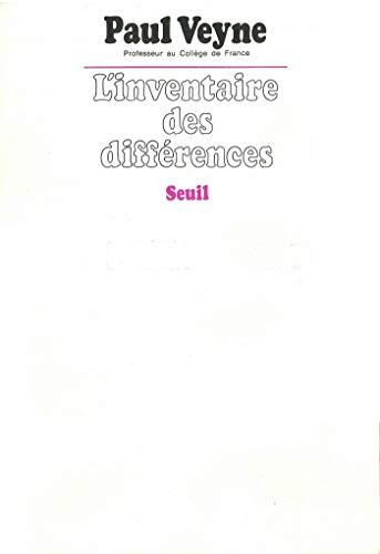 Inventaire des différences (Essais) (French Edition)