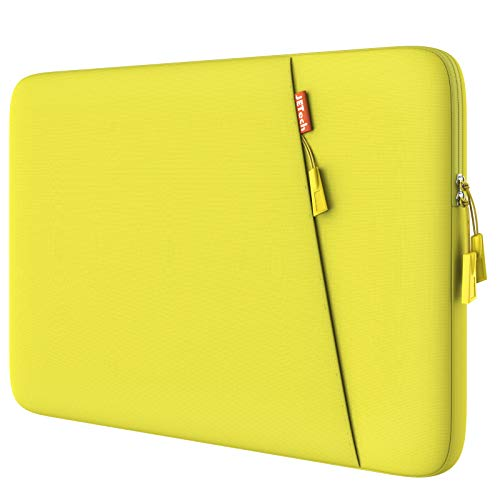JETech Laptop Sleeve Compatible for 13.3-Inch Notebook Tablet iPad Tab, Compatible with 13' MacBook Pro and MacBook Air,Waterproof Shock Resistant Bag Case with Accessory Pocket, Yellow