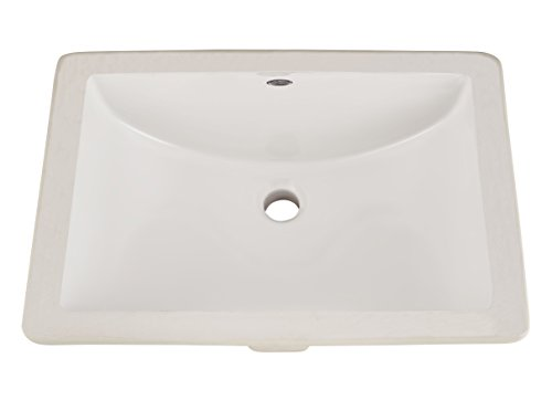 American Standard 0614000.020 Studio Ceramic Undermount Rectangular Bathroom Sink, 18'' L x...
