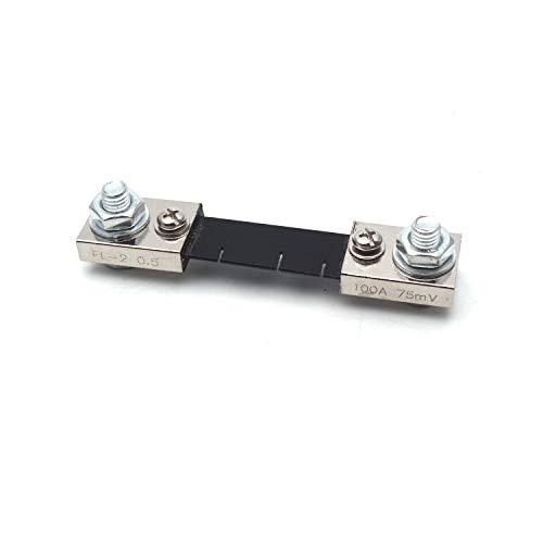 Antrader 100A 75mV Analogue Digital Meter 0-100A Current Shunt Resistors Resistance for DC Current Measure