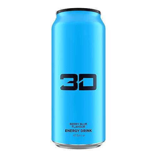3D Energy Drink 24 Cans Blue, Berry Blue, 3 kg TDE1001/400/103