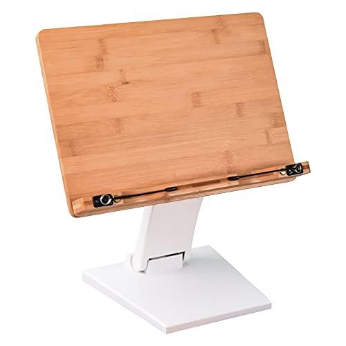 Soporte para computadora portátil para escritorio Ajustable ángulo de escritorio Soporte de escritorio para el estudio de trabajo Soportes portátiles Fits Laptop Tablet Libro de texto Libro de cocina