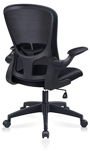 FelixKing オフィスチェア 椅子 デスクチェア 事務椅子 昇降機能付き 調節可能アームレスト 腰サポー 通気性抜群 厚手 座面 360度回転 コンパクト パソコンチェア 男女兼用 (Black)