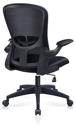 FelixKing Bürostuhl Schreibtischstuhl Bürostuhl Hebefunktion Verstellbare Armlehne Taille Sapo Ausgezeichnete Atmungsaktivität Dicker Sitz 360° Drehung Kompakt Computer Stuhl Unisex Schwarz