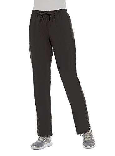ELEMENTS BY ALEXANDERS UNIFORMS Women's EL9305 Half Elastic Waistband Four Way Stretch Scrub Pant (Pewter, Large)