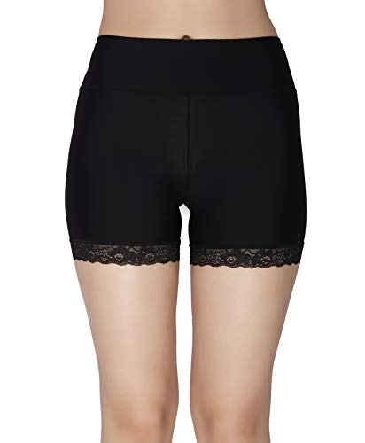GLAMORAS Women's High Waist Ice Silk Seamless Comfortable Safety Shorts/Boyshort...