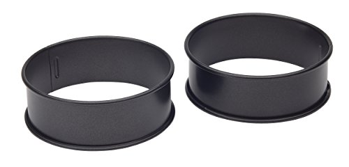 KitchenCraft Egg Rings for Frying or Poaching Eggs, Omelettes and Mini Pancakes, Non Stick Metal, Set of 2