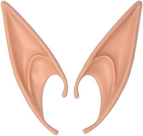 L N//V Oreilles delfe dHalloween l/ég/ères Cosplay Accessoires de f/ête Elfe Oreilles magiques Ville pointues couleur claire de la peau