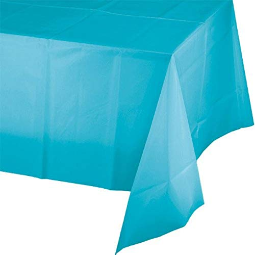 Creative Conversion Plastique Banquet Table Cover, Bermuda Bleu