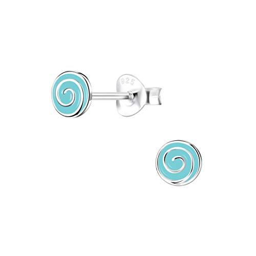 Laimons Schmuck-Krone - Pendientes para mujer (6 mm, plata de ley 925), color turquesa