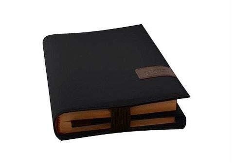 BookSkin onyxschwarz: robuste Buchhülle aus Mikrofaser mit integriertem Lesezeichen