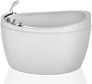 Empava 59 Inch Freestanding Hydrotherapy Oval Japanese SPA Tub