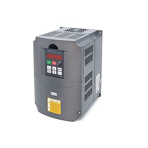HAILAN-H Inverter 4KW Inverter 3 Phase Input VFD Variable Frequency Drive Frequency Converter for Spindle Motor Speed Control Variable Frequency Drive (Voltage : 4kw 220)