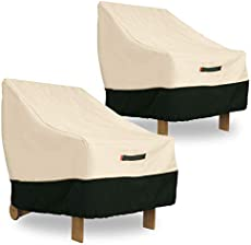 Umbrauto Patio Chair Covers Lounge Deep Seat Cover Waterproof Outdoor Lawn Patio Furniture Covers Set of 2