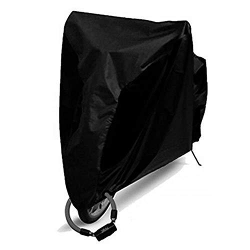 Funda de portabicicletas, Bikcouberoutdoostoragwaterproosnoobicyclcovebikraisnowarcóussunshinprotectivmotorcyclaswaterproouprotectiocyclinincove (Color : Black, Size : Medium)