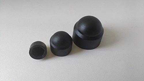 50 Stück Sechskant Schutzkappe M8 - Schlüsselweite 13mm, Farbe schwarz - Abdeckkappen