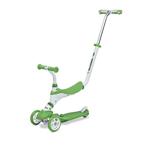 Mondo On & Go - Scribble Scooter para niños 5 en 1 - Scooter con Asiento, Pedales de Goma Suave y Scooter Grande de 3 Ruedas para niños - De 1 a 5 años | MAX 50 Kg - Color Verde - 28574, variabile