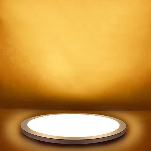 PADMA 15W Modern LED Deckenleuchte Warmweiß Rund Ip44 Wasserdicht Deckenlampe Küche 1200 Lumen Schlafzimmer