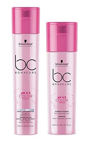 Schwarzkopf Bonacure pH 4.5 Color Freeze Silver Micellar Shampoo 250 ml & Conditioner 200 ml