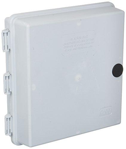 """9""""x9""""x3"""" OUTDOOR CABLETEK ENCLOSURE PLASTIC GRAY CASE UTILITY CABLE BOX CTE-S"""