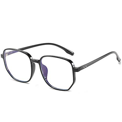 Bias&Belief Gafas de Bloqueo de luz Azul Gafas para Juegos de computadora TR Marco Grande con Montura de anteojos de Cara Redonda Gafas Lectura Anti-Fatiga Visual para Mujeres y Hombres,C