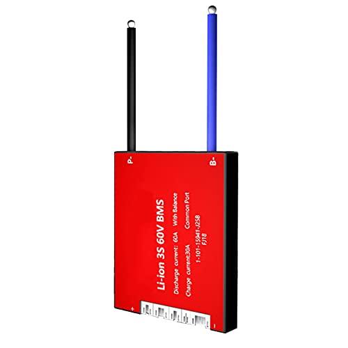 BMS 3S 7S 10S 13S 20A 30A 40A 50A 60A 3,7 V batería de iones de litio BMS placa de protección de batería de litio PCB con módulo equilibrado (Color : 4S)