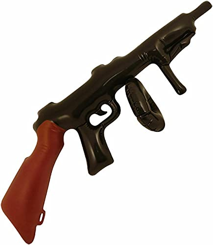 Rimi Hanger Inflatable Tommy Gun 80cm Blow Up Gangster Party 20s Fancy Dress Parties Accessory