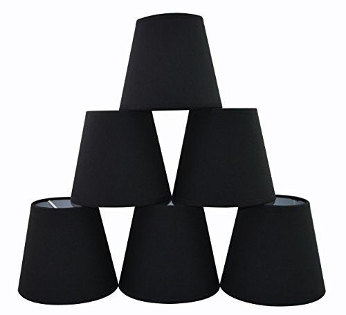 Doooitlight Set mit 6Clip-Lampenschirmen für Lampen, Leuchten, Kronleuchter Salmon TC