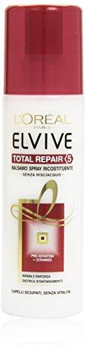L Oréal Paris Elvive Total Repair 5 Balsamo Spray Ricostituente per Capelli Sciupati, 200 ml