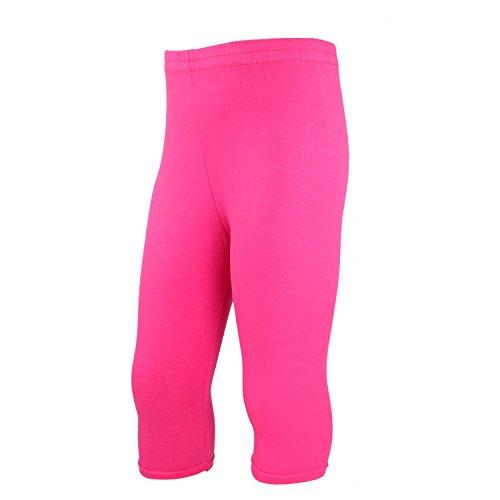 TupTam Mädchen Leggings 3/4 Capri Blickdicht, Farbe: Pink, Größe: 140