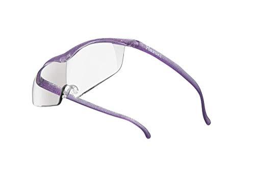 Hazuki ハズキルーペ 直営店 公式店 限定 倍率交換保証付きラージ 1.6倍 クリアレンズ ニューパープル ハズキ 拡大鏡 ルーペ メガネ型 眼鏡型 めがね型 メガネ 眼鏡 めがね 日本製 MADE IN JAPAN ギフト