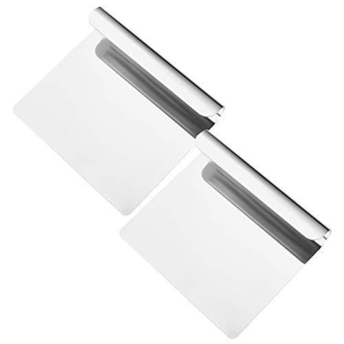 BESTonZON 2 Stück Teigschaber/Cutter/Chopper Edelstahl Spiegel poliert- Kuchen, Pizza Cutter