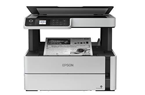 Epson EcoTank ET-M2170 nachfüllbarer 3-in-1-Schwarzweißdrucker (Scanner, Kopierer, DIN A4, Duplex, USB 2.0, Wi-Fi, Ethernet) großer Tintenbehälter, hohe Reichweite, niedrige Seitenkosten