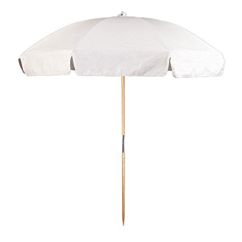 Frankford Umbrella Emerald Coast Collection 7.5 ft. Commercial Steel Beach Umbrella with Ashwood...
