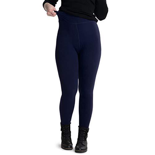 Preisvergleich Produktbild cosey Damen einfarbige High Waist Leggings,  Blau,  XL
