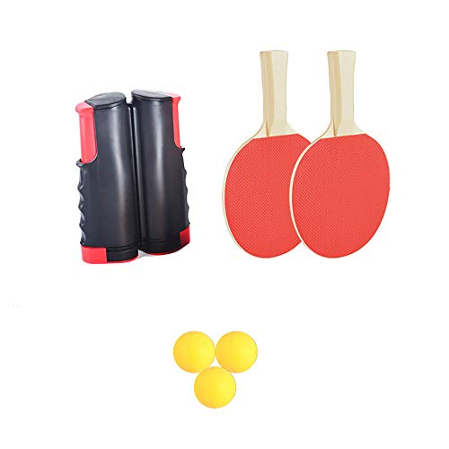 Purchase DeeCozy Table Tennis Set, Ping Pong Set Portable, 1pcs Retractable Table Tennis Net+ 2 Ping...