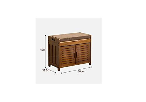 Schuhregale Schuhregal Aus Natürlichem Bambus Sitzaufbewahrung Regalbank Schuhbank Wechseln (Größe: 90X32.5X49Cm),A,60X32.5X49